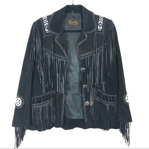 SCULLY vintage Western Scully beaded fringe jacket